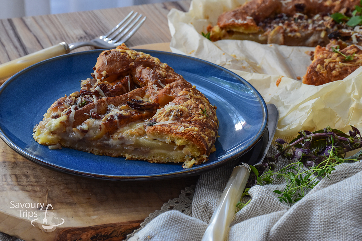 Domaća pita sa sirom / Homemade cheese pie with onion