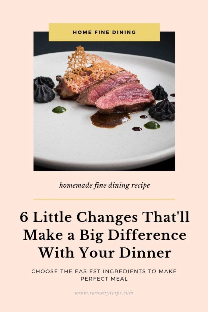 fine dining dinner ideas