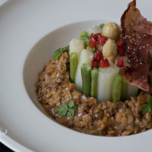Lenitls as risotto with vegetables recipe