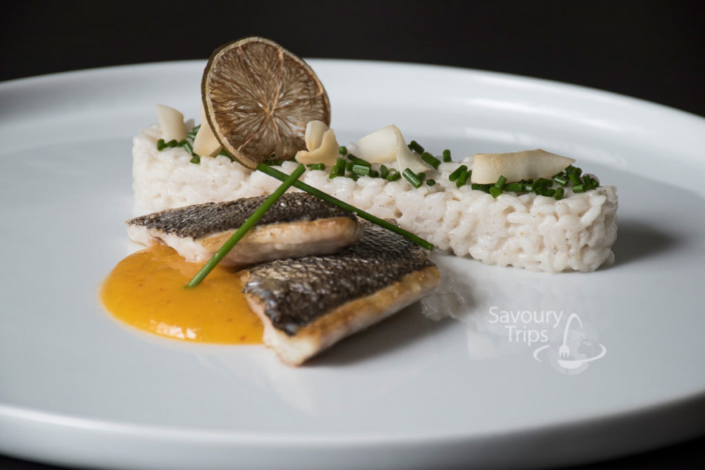 Sea Bream and mango sauce