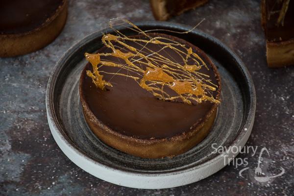 Tart od čokolade i krem karamela